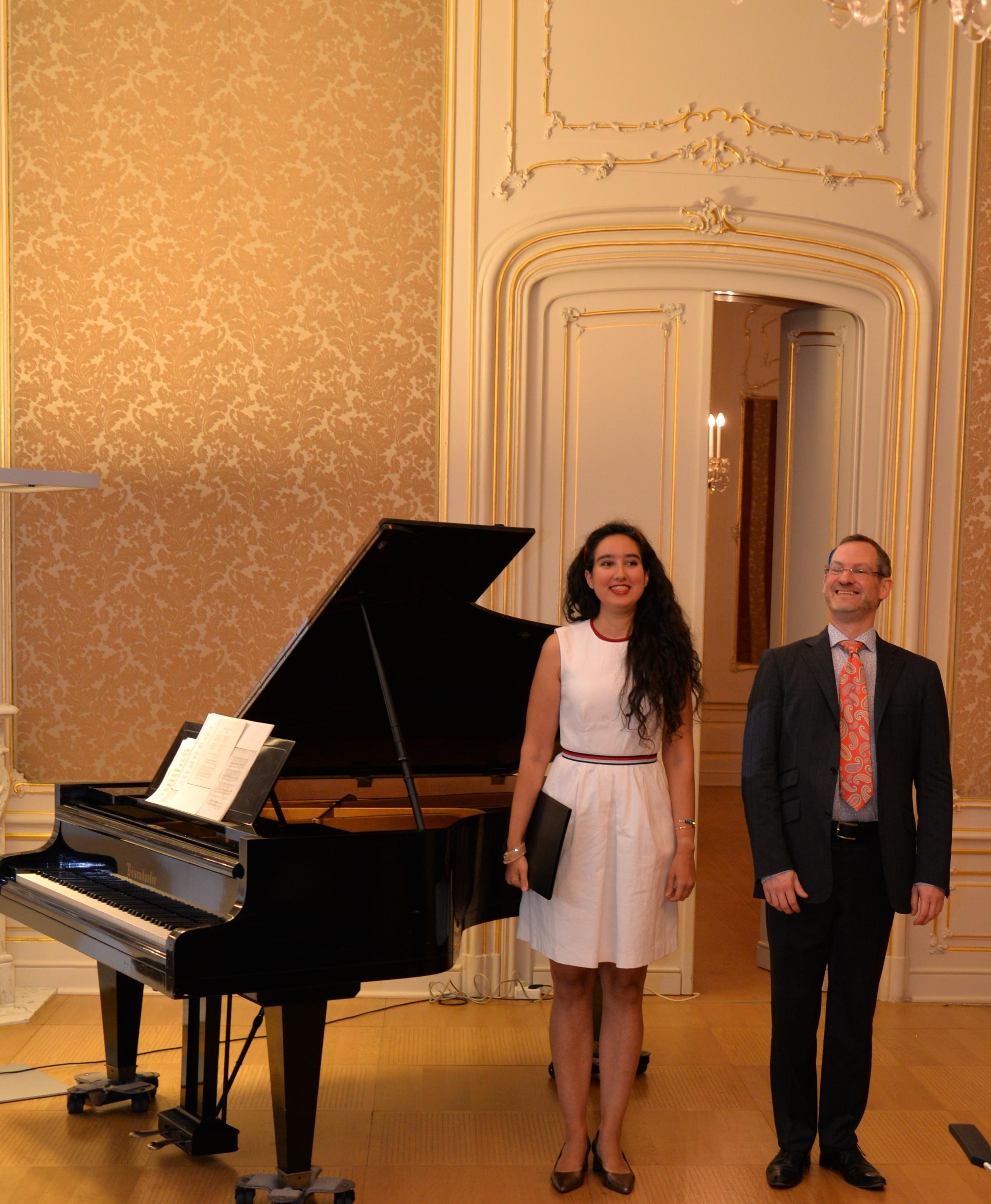 in der Österreichischen Nationalbibliothek mit Jendrik Springer am Klavier