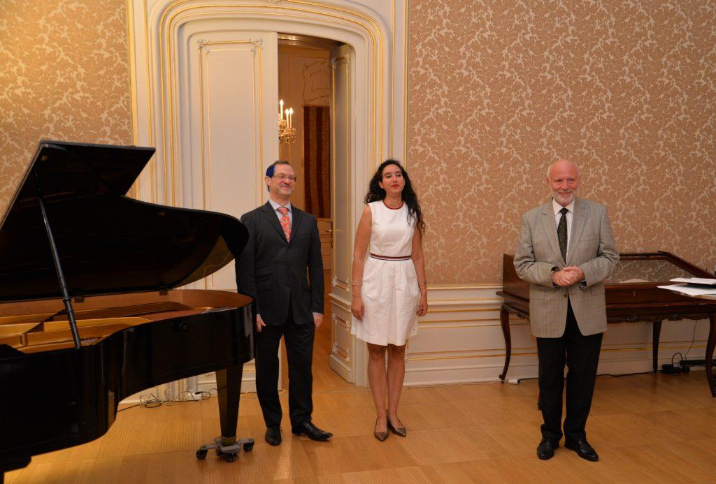 in der Österreichischen Nationalbibliothek mit Jendrik Springer am Klavier und Dr. Thomas Leibnitz