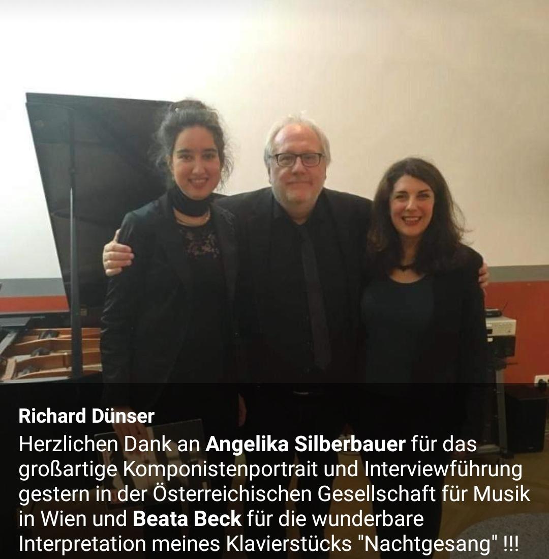 Komponistenporträt Richard Dünser - Österreichische Gesellschaft für Musik