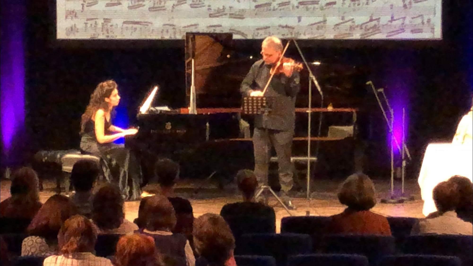 """BR Sternstunden """"Hommage Clara Schumann"""" -  Duo Hamann-Beck © Marcus Freisem"""