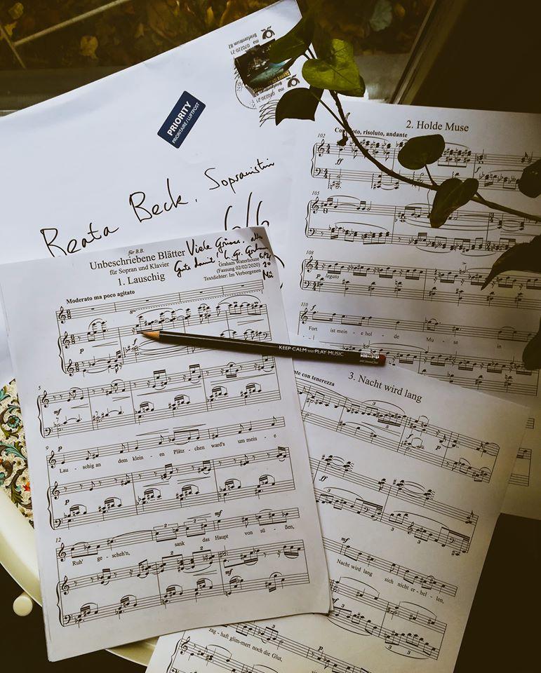 """Liederzyklus """"Unbeschriebene Blätter"""""""